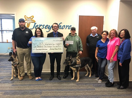Presenting Check to K9 Warriors