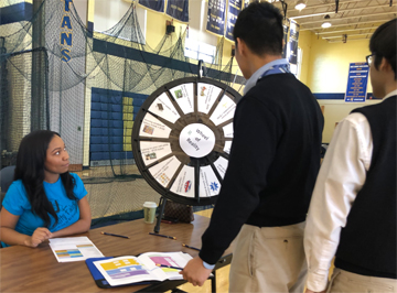 Students spinning the wheel of reality