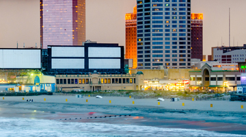 atlantic city by the ocean