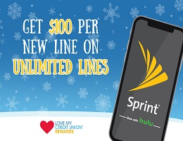 Love My Credit Union Sprint Rewards on unlimited lines
