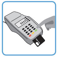 follow prompts on credit card terminal