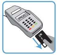 remove card from credit card terminal