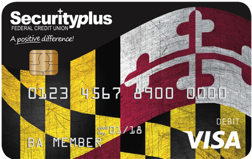 Our American Pride debit card features a waving Maryland Flag